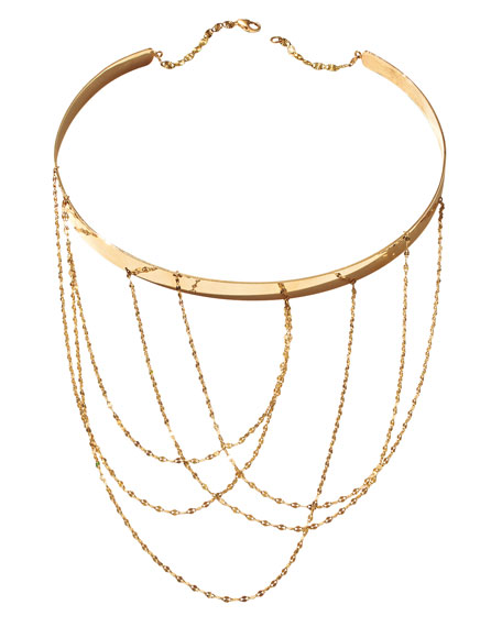 14K Gold Multi-Chain Choker Necklace
