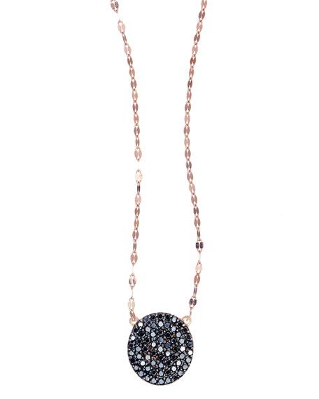 Reckless Rose Black Diamond Pendant Necklace