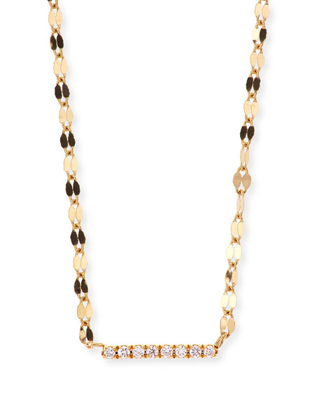 LANA Diamond Bar Pendant Necklace