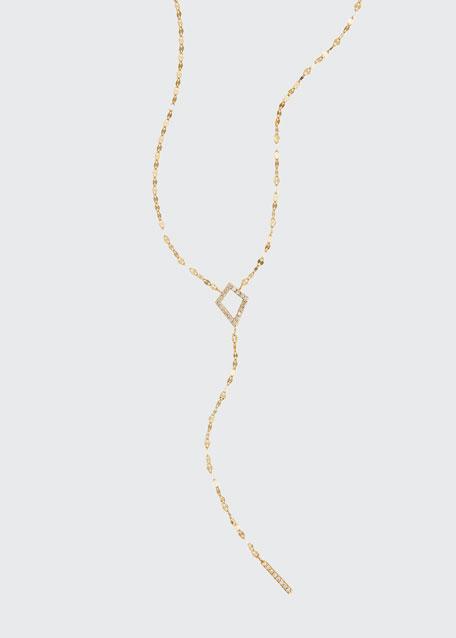 LANA Flawless Kite Lariat Necklace with Diamonds
