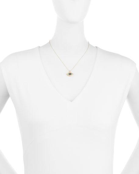 Diamond Evil Eye Swivel Pendant Necklace