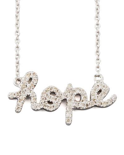 Diamond Hope Necklace, White Gold