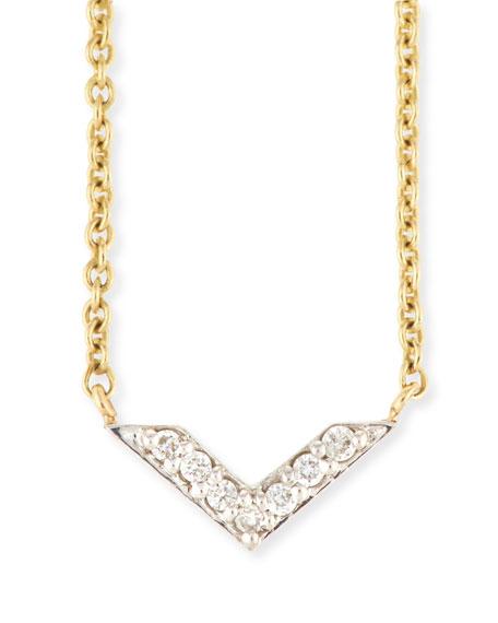 Two-Tone Diamond Chevron Necklace