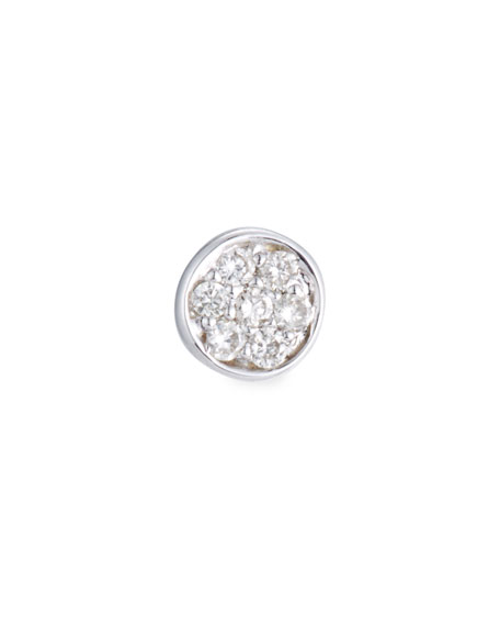 Sydney Evan Single Pavé Diamond Disc Stud Earring
