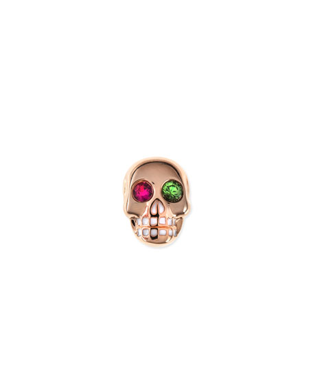 Sydney Evan 14K Rose Gold Gemstone Skull Single