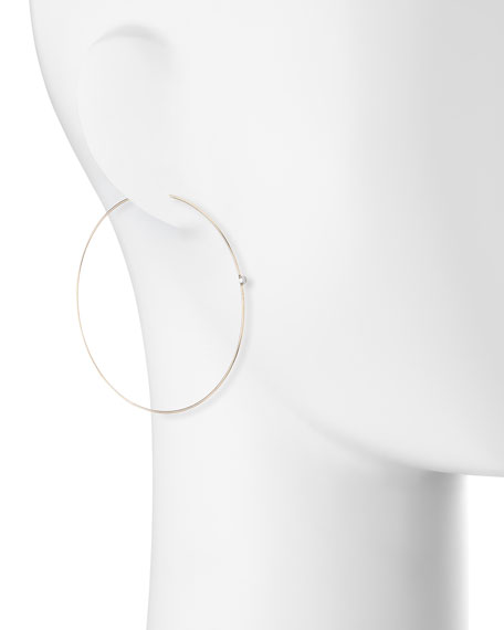 Large Diamond Magic Hoop Earrings