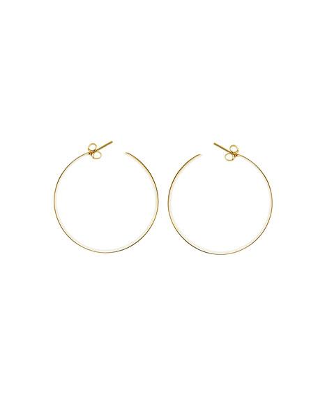 Large Vanity 14K Hoop Earrings