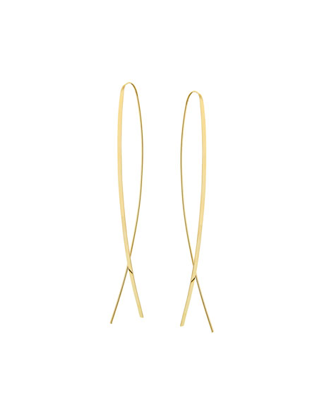 LANA Mega Narrow Flat Upside Down Hoop Earrings