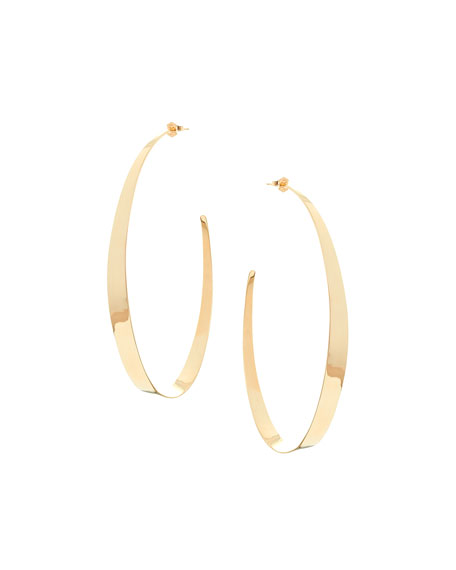LANA Large Narrow Gloss Hoops