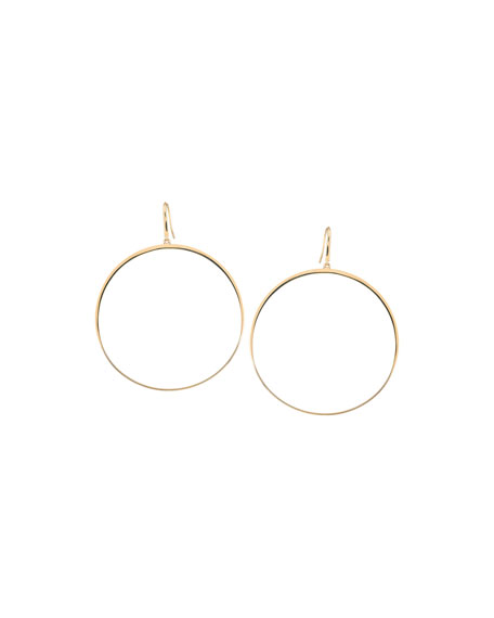 LANA 14k Large Gloss Bangle Hoops