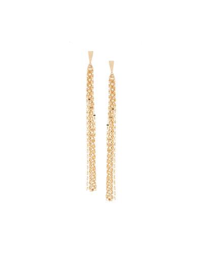 14K Tassel Duster Earrings