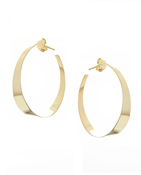 Small Flat Gloss Hoop Earrings