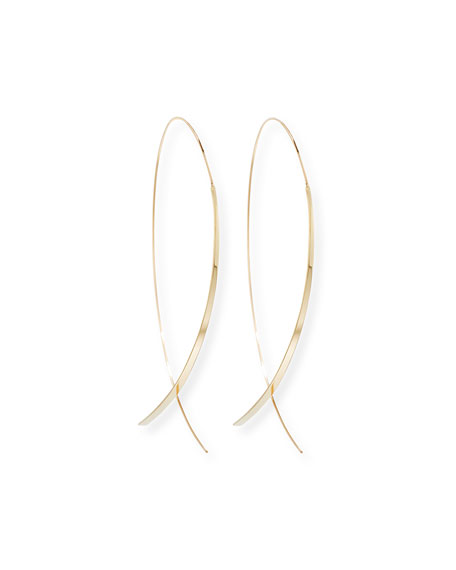Mega 14K Thread-Through Hoop Earrings