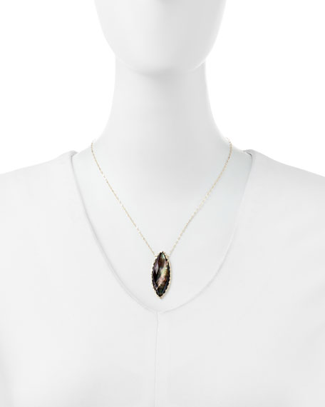 Mystiq Black Mother-of-Pearl Necklace