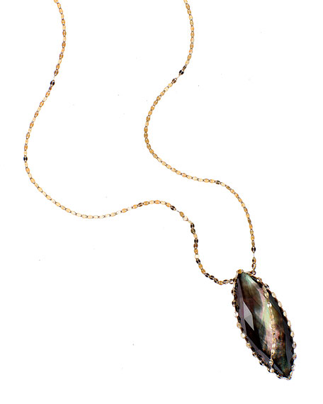 LANA Mystiq Black Mother-of-Pearl Necklace