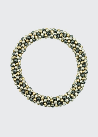 Odette 14k  Silver and Labradorite Bead Bracelet