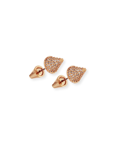 Eddie Borgo Pavé Crystal Cone Stud Earrings