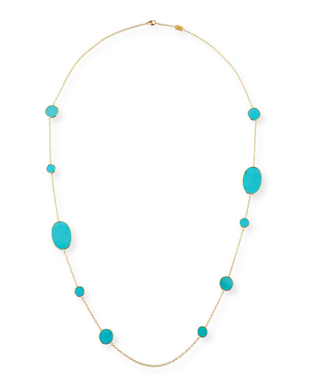 Ippolita Accessories 18K POLISHED ROCK CANDY TURQUOISE STATION NECKLACE
