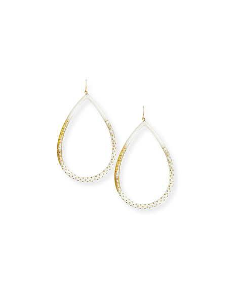 Ashley Pittman Kambi Light Horn Teardrop Earrings