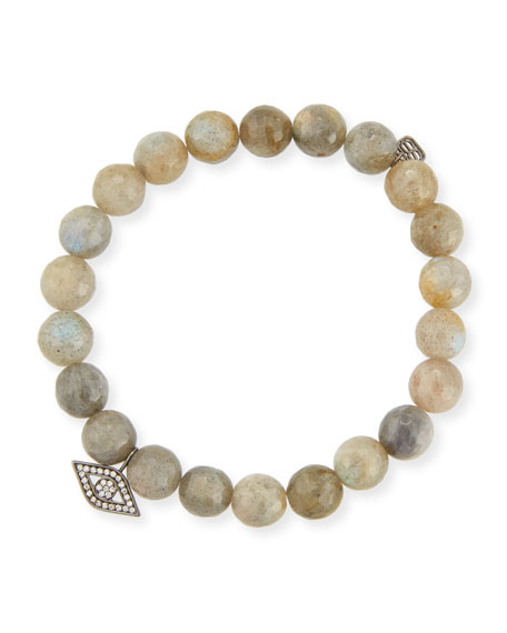 Sydney Evan Anniversary Beaded Labradorite Bracelet with Diamond