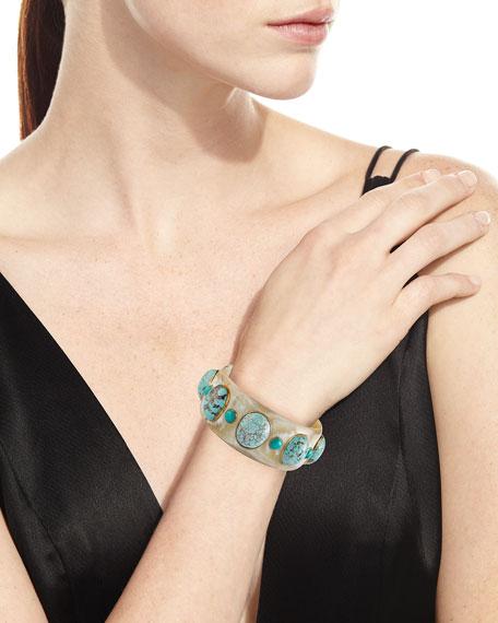 Michezo Light Horn & Turquoise Bangle