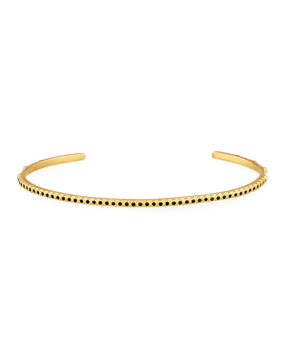 Sueno 18K Gold Bangle with Black Sapphires