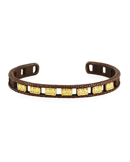 Old World Midnight Open Carved Cuff Bracelet