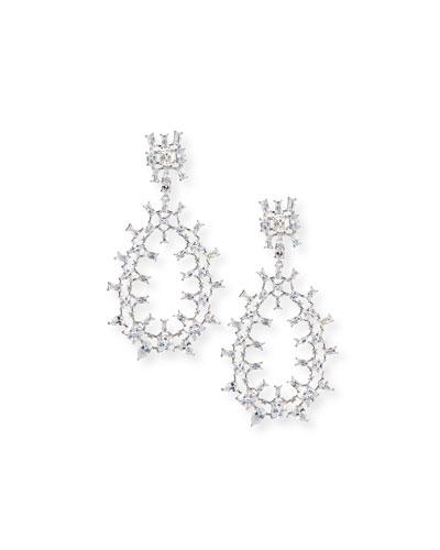 Monarch Oversized Crystal Teardrop Earrings