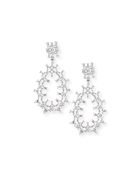 Monarch Oversized Crystal Teardrop Earrings