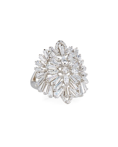 Monarch Deco Medallion Ring  Size 7