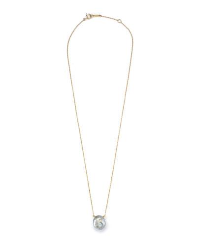 Sea of Beauty Tahitian Keshi Pearl & Diamond Pendant Necklace