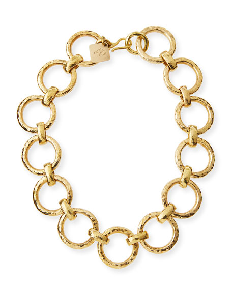 Ashley Pittman Daima Bronze Link Necklace iajog