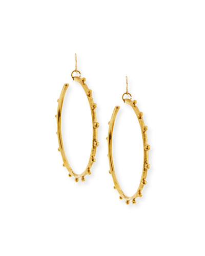 Teli Studded Bronze Hoop Earrings