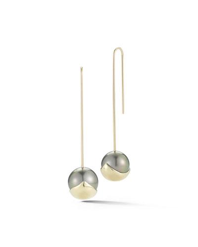 Fluid Pearl Bar Drop Earrings