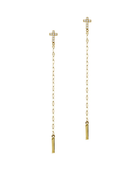 LANA Diamond Cross Duster Earrings