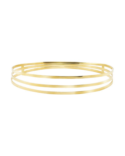 14K Gold Triple-Row Bracelet