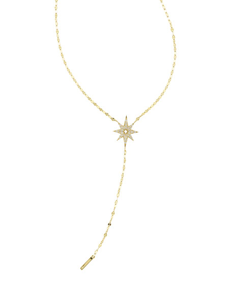 LANA Large Diamond Star Lariat Necklace