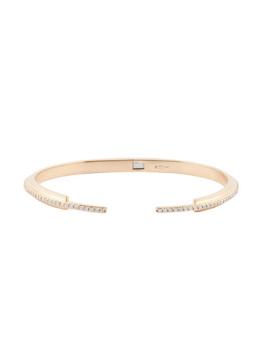 Diamond Tip Stacking Cuff Bracelet