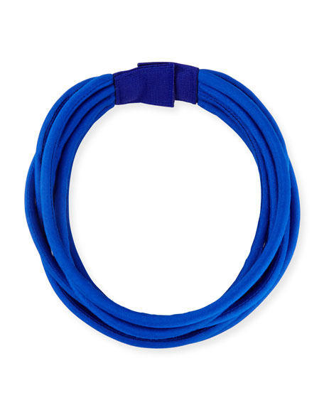 Multi-String Silk Cord, Blue