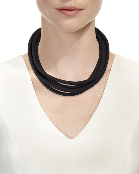 Multi-String Silk Cord, Black