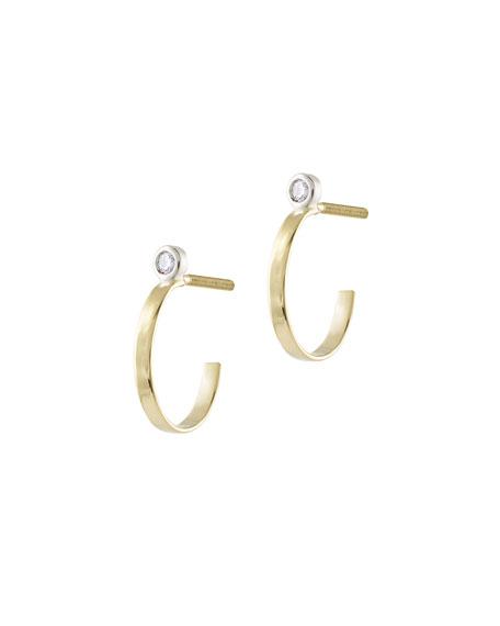 Lana Girl by Lana Jewelry Girls Diamond Huggie Hoop Earrings UAavh