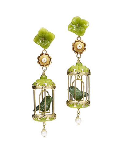 Aviary Classic Jade & Pearl Earrings