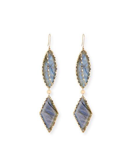 LANA 14k Lumos Remix Labradorite Drop Earrings
