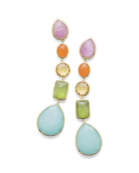 Ippolita 18K Rock Candy® 5-Stone Linear Earrings in