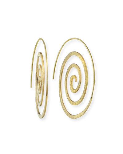 14K Gold Spiral Hoop Earrings