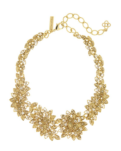 Milgrain Petal Statement Necklace
