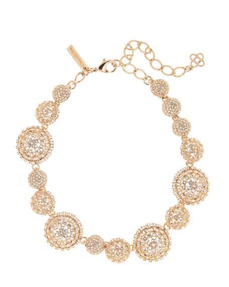 Oscar de la Renta Pave Crystal Dome Necklace
