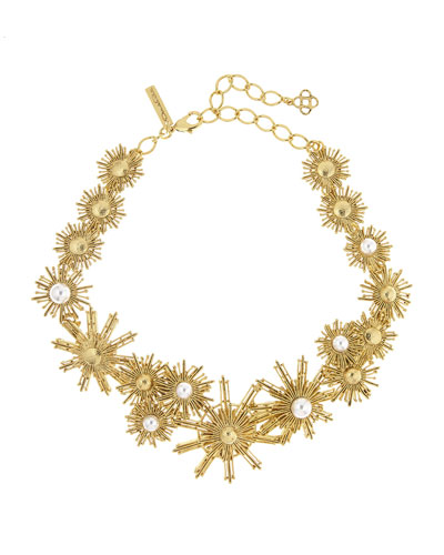 Pearly Sun Star Necklace