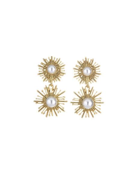 Oscar de la Renta Pearly Sun Star Drop