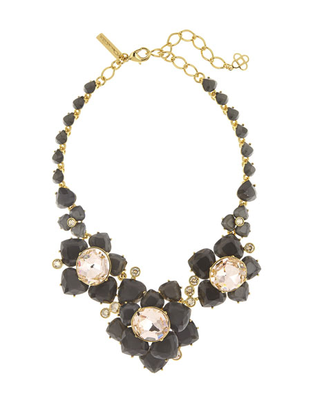 Oscar de la Renta Faceted Resin Flower Statement